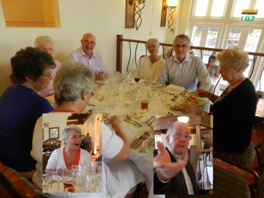 11 Happy diners at Littlecote